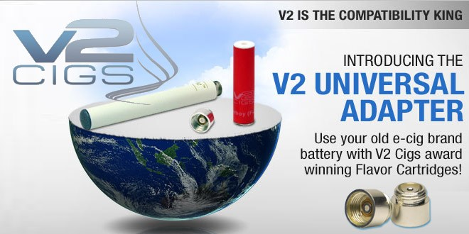 V2 Cigs naar Green Smoke Adapter