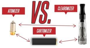 Atomizer vs. Cartomizer vs. Clearomizer