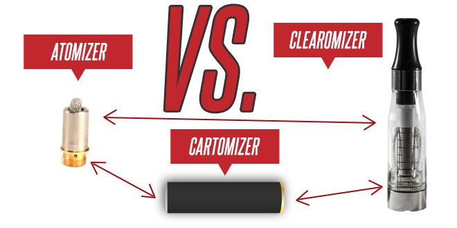 Atomizer vs. Cartomizer vs. Clearomizer