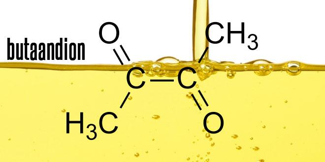 Het gebruikv an diacetyl of butaandion in e-liquids